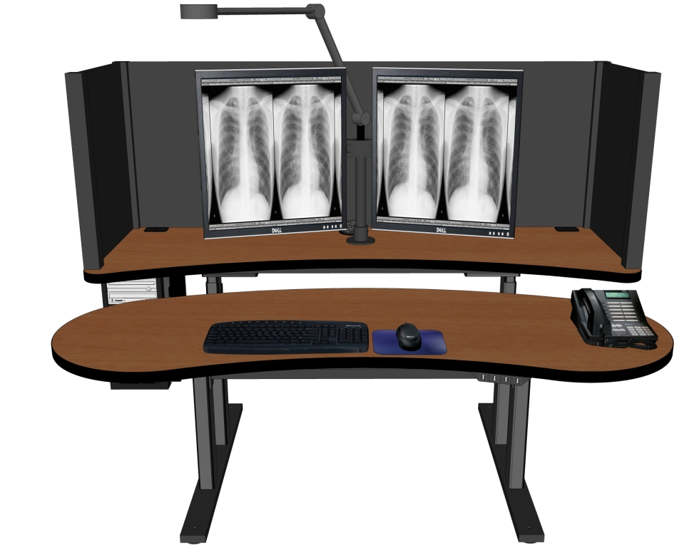 <b><font color=blue>PACS Radiology Furniture + Stand Up Desk:</b></font>