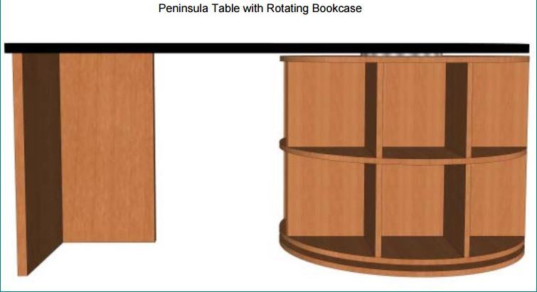 Control Room Desk Peninsula Table Desk Fixed Height # PTRB63-00