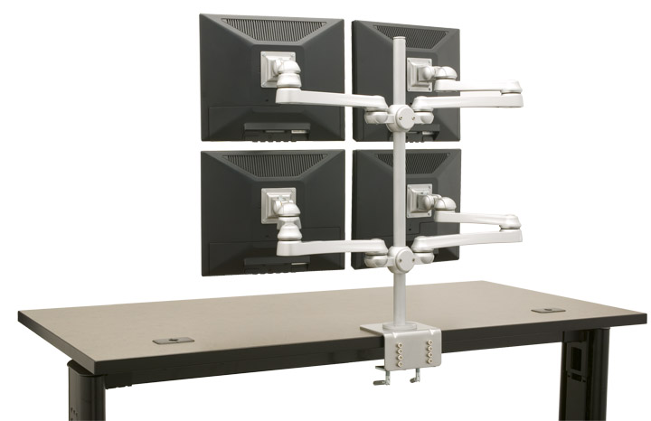 Quad Monitor Stand |  4 Monitor Display #MTR-4X