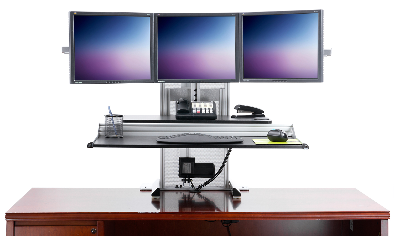 Dual Monitor Desk Stand Up Car Interior Design