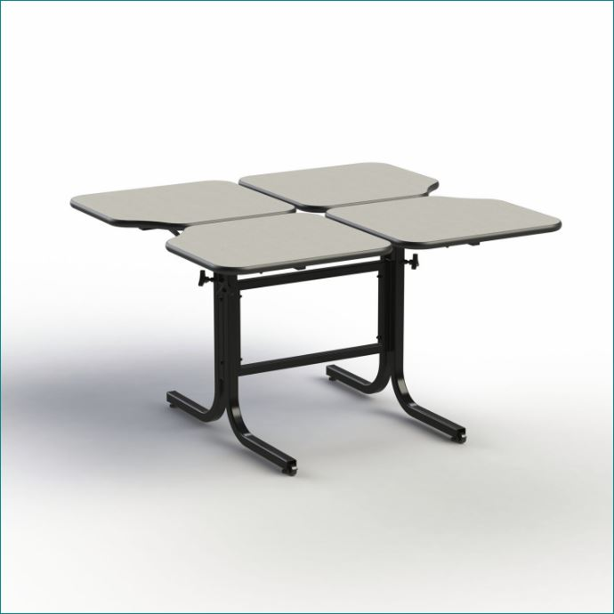 Wheelchair Accessible Adjustable Height Dining Table Four Persons