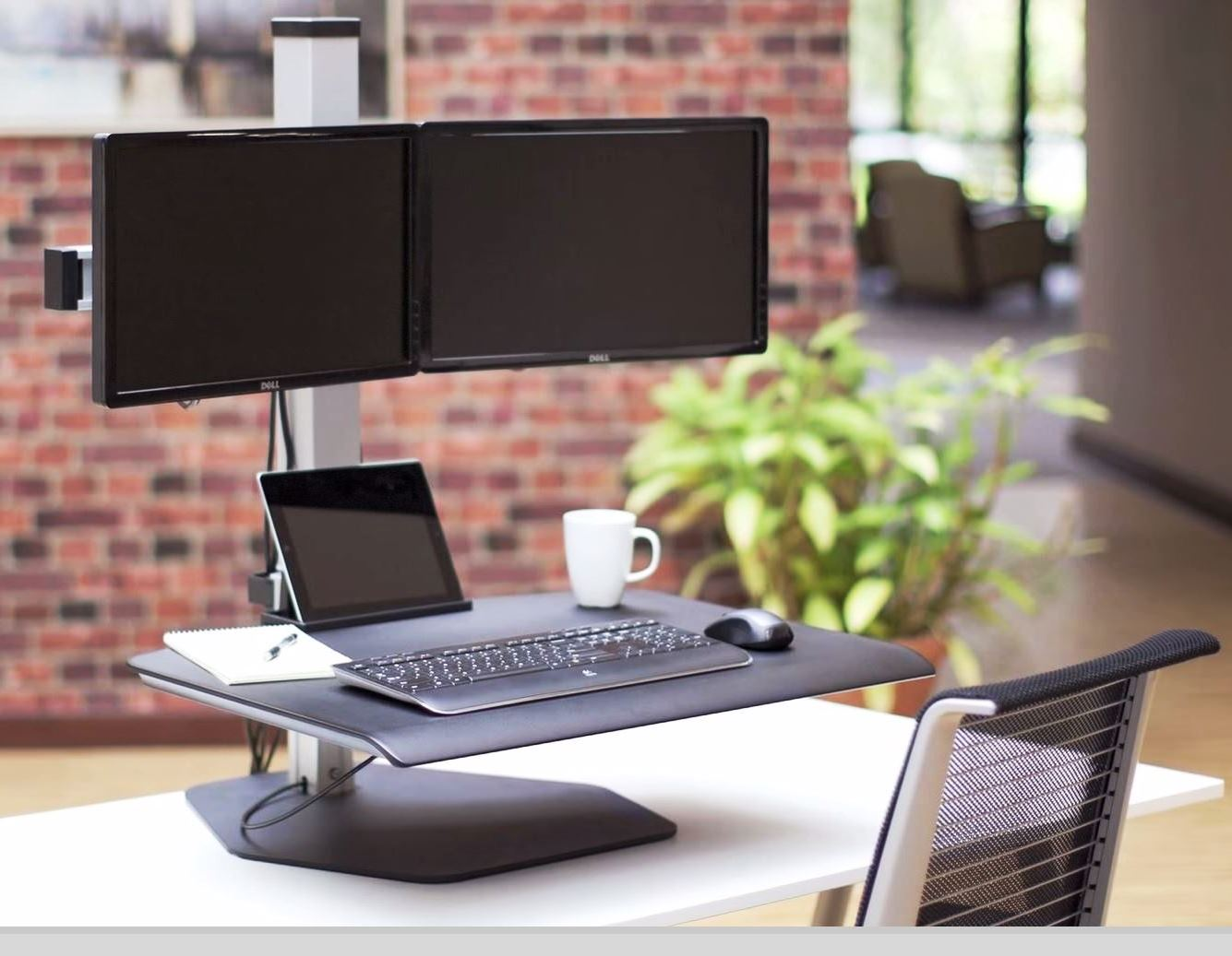 Winston Manual Adjustable Dual Sit Stand Workstation #WSTN-2