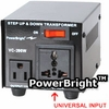 200 WATT VOLTAGE CONVERTER  STEP UP / STEP DOWN TRANSFORMER