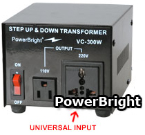 300 WATT VOLTAGE CONVERTER  STEP UP / STEP DOWN TRANSFORMER