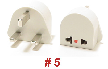 #5 UNGROUNDED PLUG ADAPTER