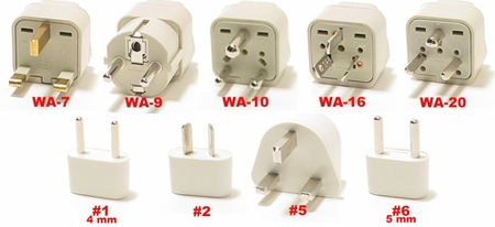 Grenadines Plug Adapters  Wa-7-9-10-16-20, #1, #2, #5, & #6