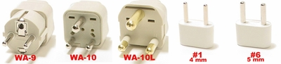 Mozambique Plug Adapter   Wa-9-10-10L, #1, & #6