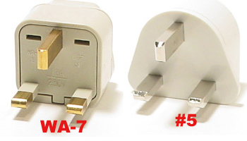 United Kingdom Plug Adapters   Wa-7  & #5