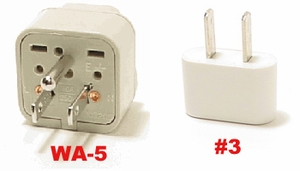 Virgin Islands Plug Adapters  Wa-5 & #3