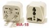 WA-18 GROUNDED PLUG ADAPTER