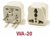 WA-20 GROUNDED PLUG ADAPTER