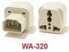 WA-320 GROUNDED PLUG ADAPTER