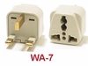 WA-7 GROUNDED PLUG ADAPTER