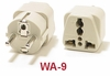 WA-9 GROUNDED PLUG ADAPTER