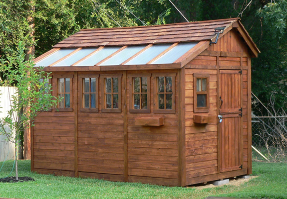 8 x 12 sunshed cedar garden shed and greenhouse ssgs812