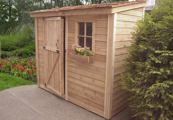 Home > Storage Sheds > Wood Sheds > 8 x 4 SpaceSaver Lean-to Style