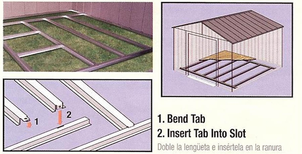 Arrow Outdoor Shed Foundation Kit - 8 X 8, 10 x 8, or 10 X 9 - FB109