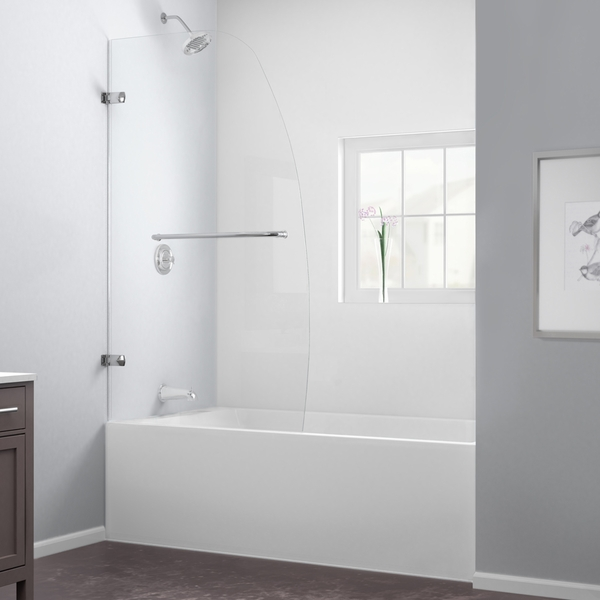 Dreamline Shdr 3534586 Aqua Uno 34 Quot Frameless Hinged Tub Door