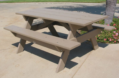 Eagle One Recycled Plastic Picnic Table 72 Inch X 50