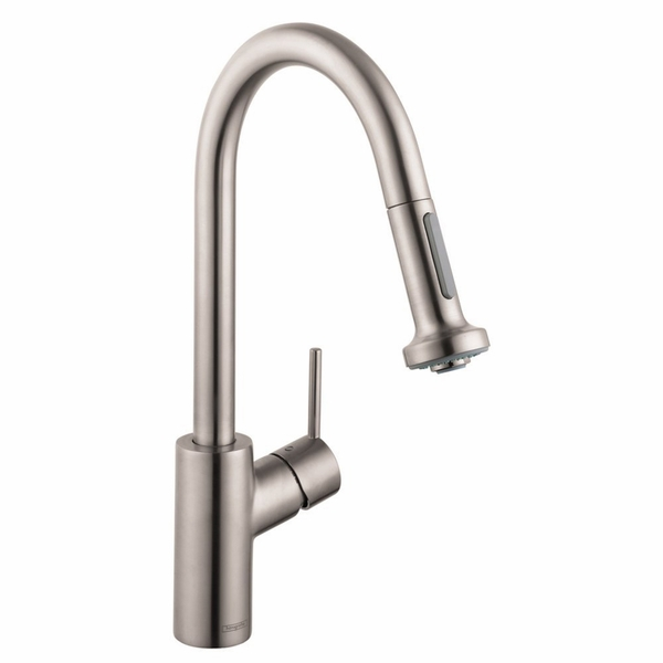 hansgrohe 14877001 talis s kitchen faucet with pull down spray hansgrohe 14877801 talis s kitchen faucet with pull down
