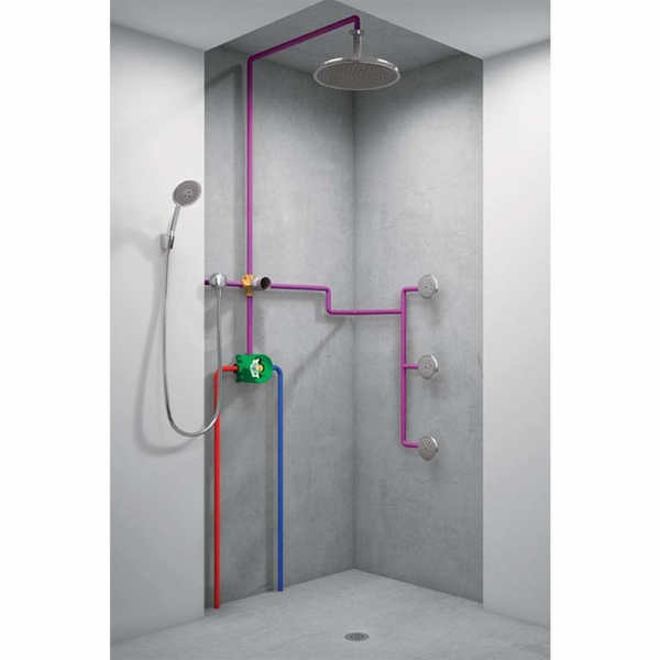 Hansgrohe 15930181 Quattro 3 Way Diverter Valve Rough In