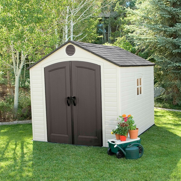 how to build a foundation for a resin storage shed