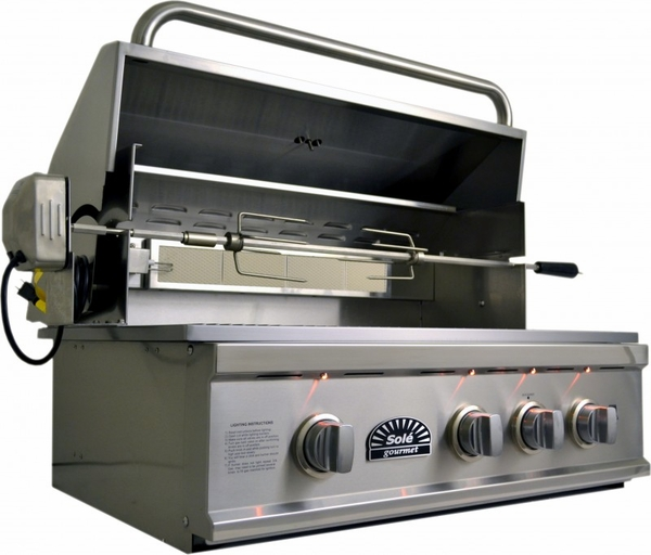 Sole Grill 32 Quot Luxury Series Gas Grill With Rotisserie And