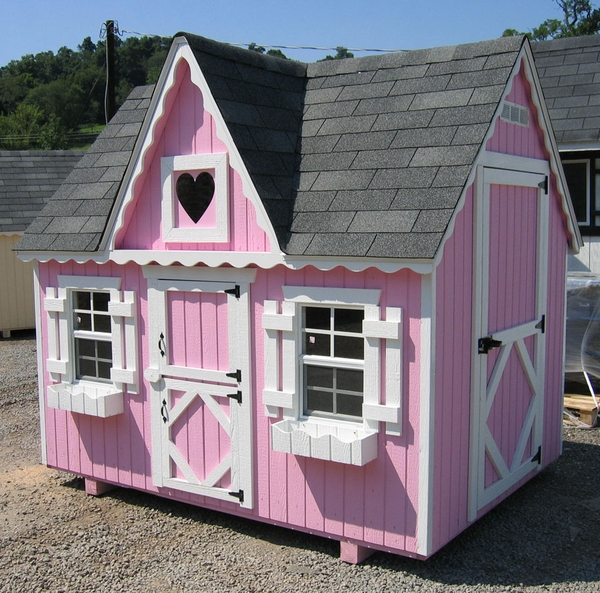 Victorian Wooden Outdoor Playhouse Kit 6 X 8 6x8 Vp Wpnk