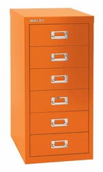 Bisley 6 Drawer Under Desk Multidrawer Cabinet