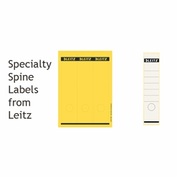 Leitz Specialty Self-Adhesive Spine Labels for Black Marbled Binders