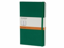 Moleskine Large Ruled Notebook Hard Cover in Oxide Green