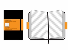 Moleskine Ruled Pocket Notebook Hard Cover in Black