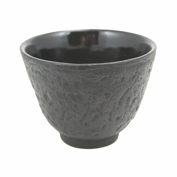 Black Cast Iron Teacup