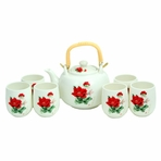 Blooming Flower Porcelain Tea Set