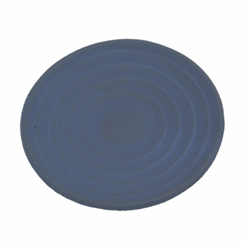Blue Cast Iron Saucer