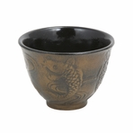 Bronze Japanese Koi Cast Iron Teacup