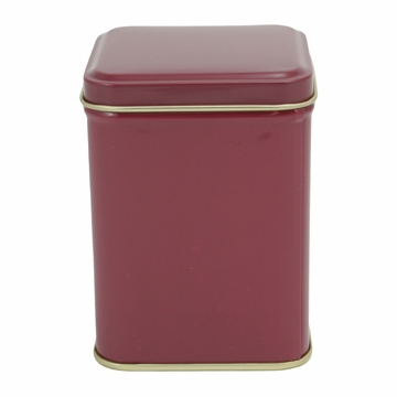 Burgundy Tin Canister (3.4 oz - 5.6 oz)