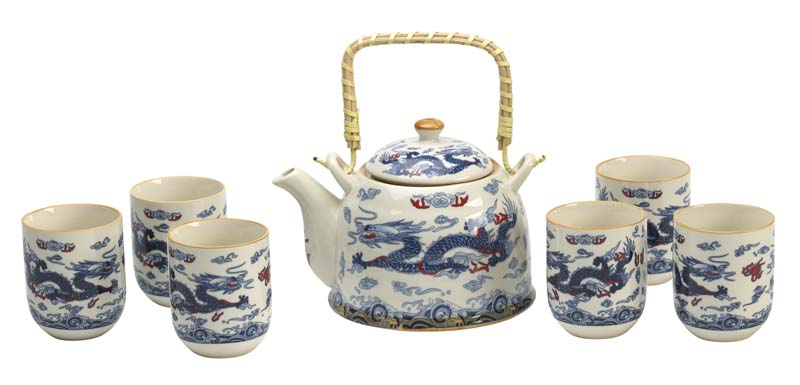 Chinese Dragon Porcelain Tea Set Enjoyingtea Com