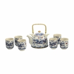 Chinese Dragon Porcelain Tea Set