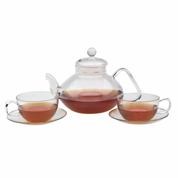 Classical Filtering Glass Tea Set