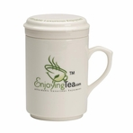 EnjoyingTea Fine Porcelain Infuser Tea Mug