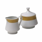 Golden Age English Porcelain Cream and Sugar Set