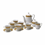 Golden Age English Porcelain Tea Set (Irregular)