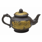 Golden Dragon Yixing Clay Teapot