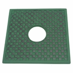 Green Cast Iron Square Trivet