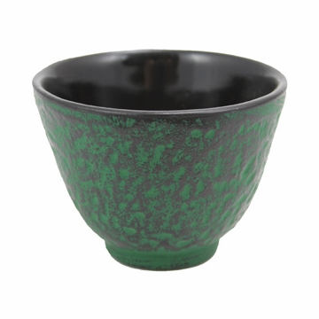 Green Cast Iron Teacup