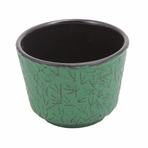 Green Pine Needle Cast Iron Teacup