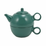 Green Teapot with Cup