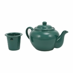 Green Teapot with Infuser
