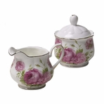 Imperial Palace New Bone China English Cream & Sugar Set